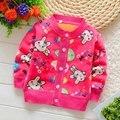 BibiCola 2016 свитер детей детская теплая clothing верхняя одежда Младенца мальчики девочки мультфильм зимой свитер толстый бархат кардиган
