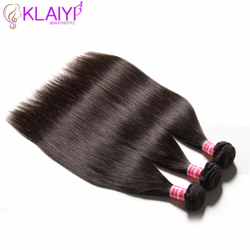 Klaiyi Straight Remy Hair Weave Bundles 8-30 Inch Natural Black Color Brazilian Straight Hair Bundles Free Shipping