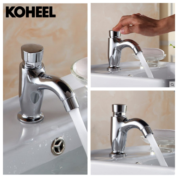 K8 Metered Faucets Saving Water Basin Tap Brass Delay
