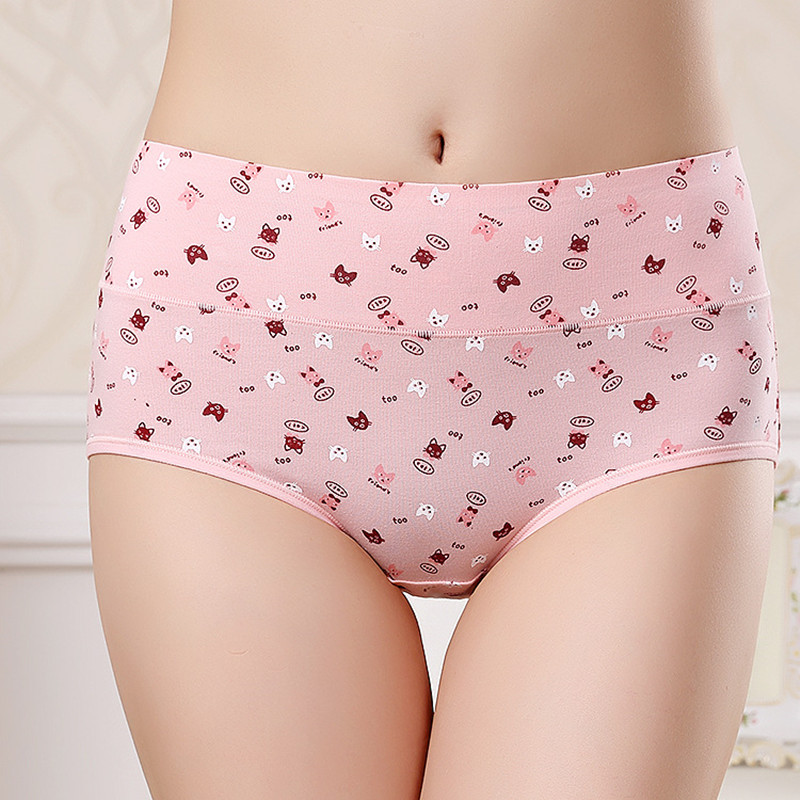 Sexy Fashion Women Panties Body Shaper Hip Abdomen Tummy Control Briefs Mid Waist Underwear Cat Panties Women's Panty