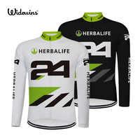 HERBALIFE 24 maillots de cyclisme Ropa Ciclismo maillot de cyclisme à manches longues vêtements de sport Voyage Mondiale complet vélo Long 8008