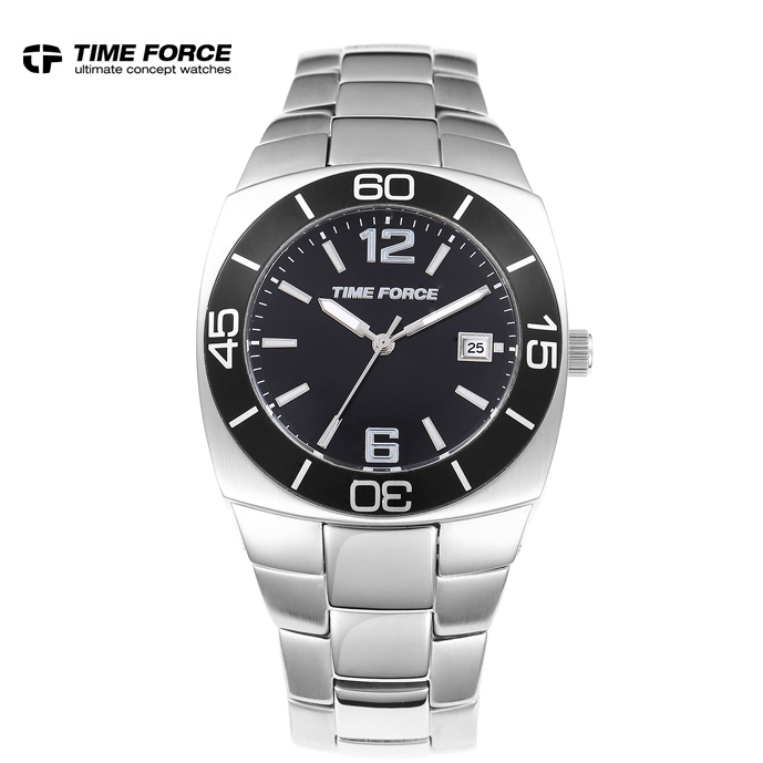 relojes full stainless steel men's sprot watch black and white face VX42 movement relojes full stainless steel men s sprot watch black and white face vx42 movement