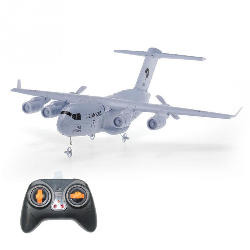 DIY RC Airplane C-17 Fixed-wing Drop-proof 373mm Wingspan Inserted EPP RC Aircraft 9107 epp foam fixed wing 4 ch radio control r c aircraft orange black