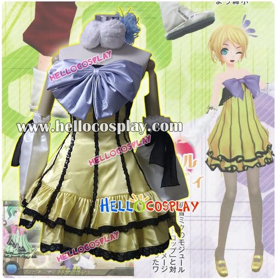 Vocaloid 2 Cosplay Project DIVA 2e Kagamine Rin Kostuum Vrolijke - Carnavalskostuums