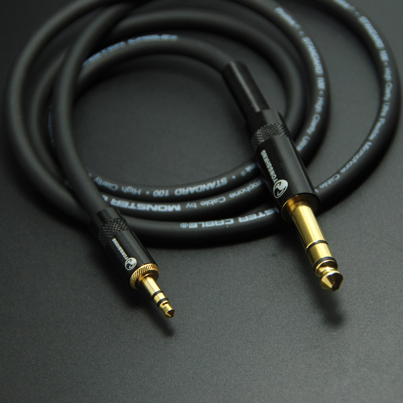 DIY HIFI 3.5mm to 6.35mm Audio Cable 3.5 To 6.35 Male To Male Audio Dedicated Line