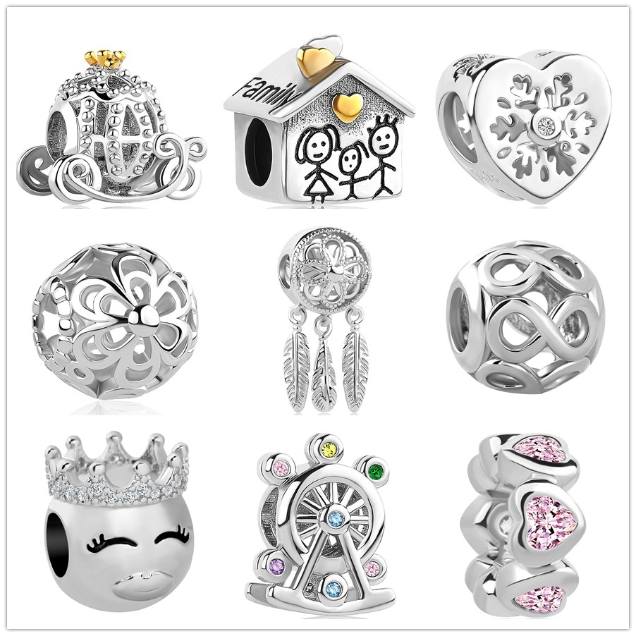 2019 new Infinite Shine Sweet Home Bead fit Original Pandora charms Bracelet necklace trinket jewelry for women man making(China)