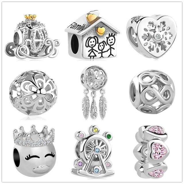 2018 new Infinite Shine Sweet Home Bead fit Pandora Original charms silver 925 pulsera abalorio joyería para mujer hombre fabricación