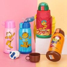 Stainless Steel Anti-drop 500ML Childrens Thermos Mug Food Swig Wine Cups Coffee Tea Bottle Cap Environmental Protection PP