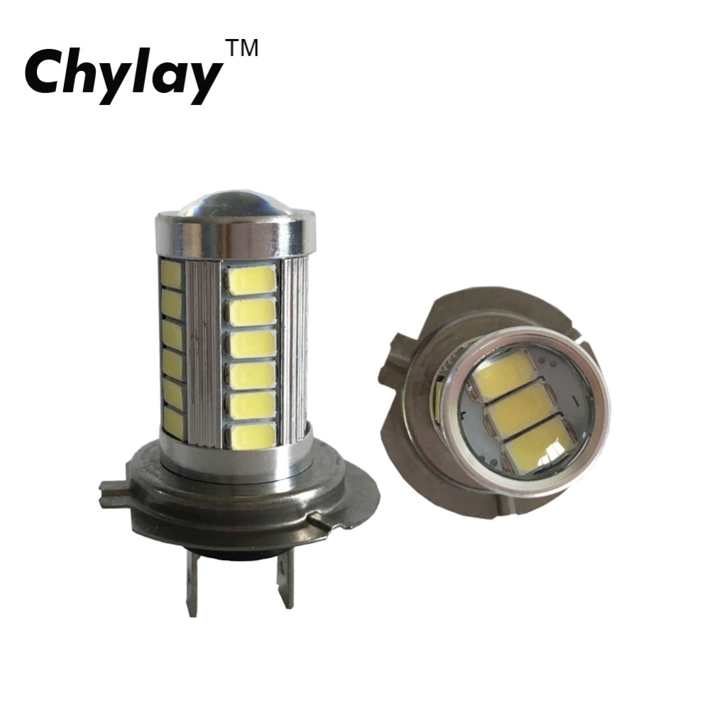 2 stücke Plug & Play H7 LED nebelscheinwerfer auto led chips lampe - Auto Lichter
