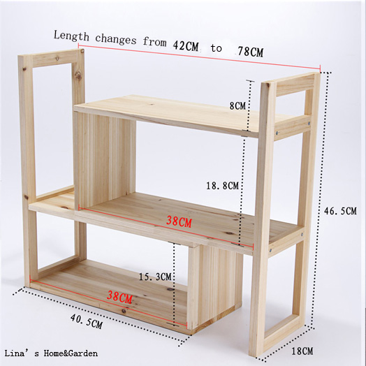 7b464a99c 3 nivel pequeño madera de abeto sólido organizador estante para libros en  Soportes y estanterías de almacenamiento de Hogar y Jardín en  AliExpress.com ...