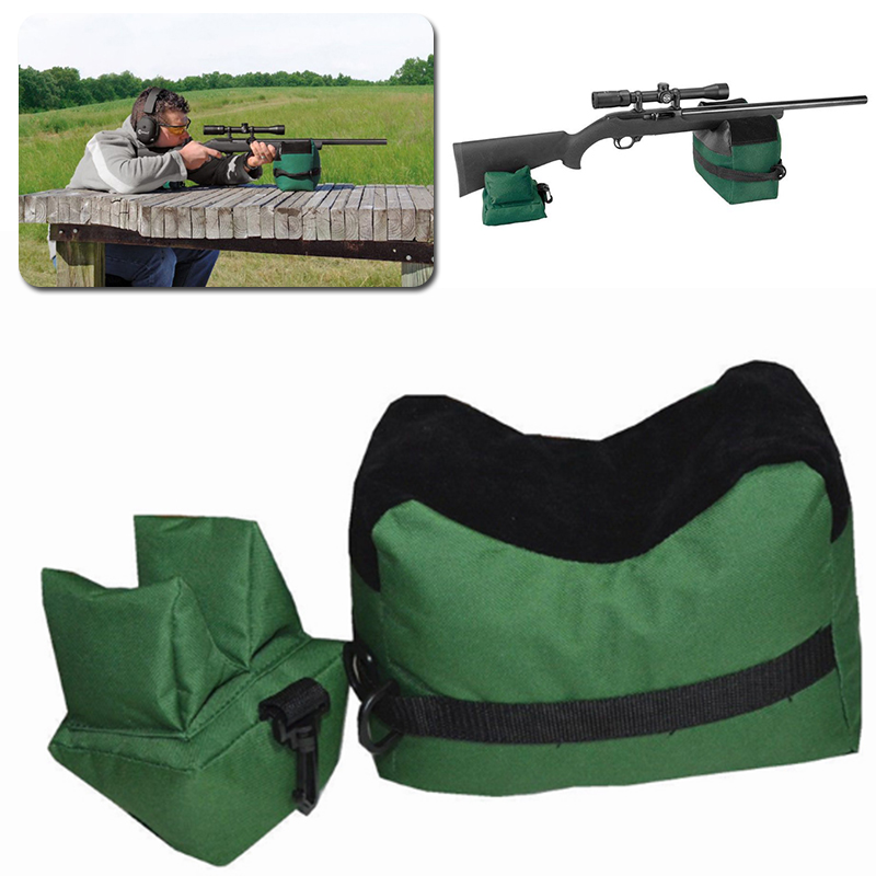 Oxford Cloth Green Tatical Front and Rear Bag Support For Hunting Rifle Shooting Range Sandbag Bench Men Sniper Hunt Target
