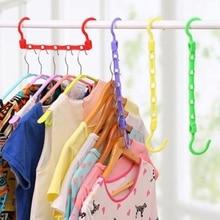 цены Clothes Hanger Magic Multi-Functional Dual Hanger Folding Clothes Hanger Clothing Drying Rack Storage Holder Racks  shelf
