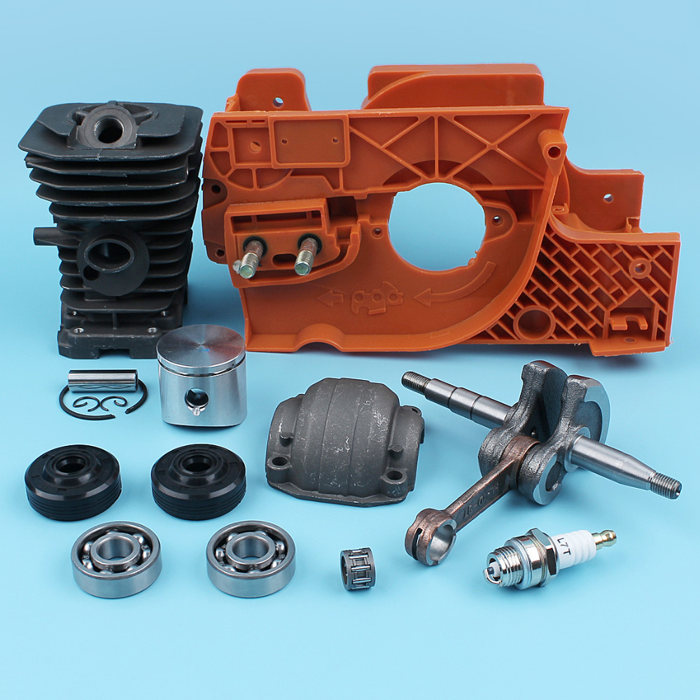 Crankcase Crankshaft Bearing (38mm) Cylinder Piston Kit For Husqvarna 137 142 E Chainsaw Engine Pan Oil Seals Spark Plug NIKASIL цены