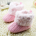 2015 Baby Shoes Infants Crochet Knit Soft Fur  Fleece Boots Toddler Girl Boy Wool Snow Crib Shoes Winter Warm  Booties