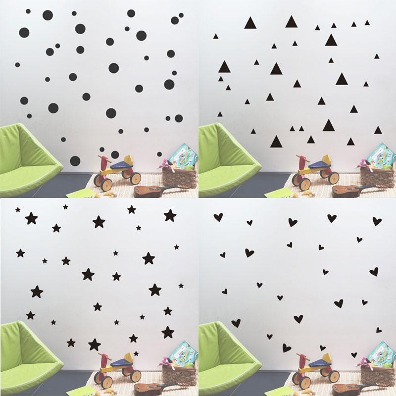 Bedroom Curtains Small Windows Bedroom Wallpaper And Matching Bedding Diy Wall Art Ideas Bedroom Bedroom Design Kids: Aliexpress.com : Buy Simple Shape Wall Sticker Geometric