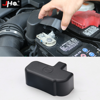 JHO Hood Engine Battery Negative Protective Cover Cap For Ford Explorer 2011 2012 2013 2014 2015 16 17 18 Car Accessories Black image