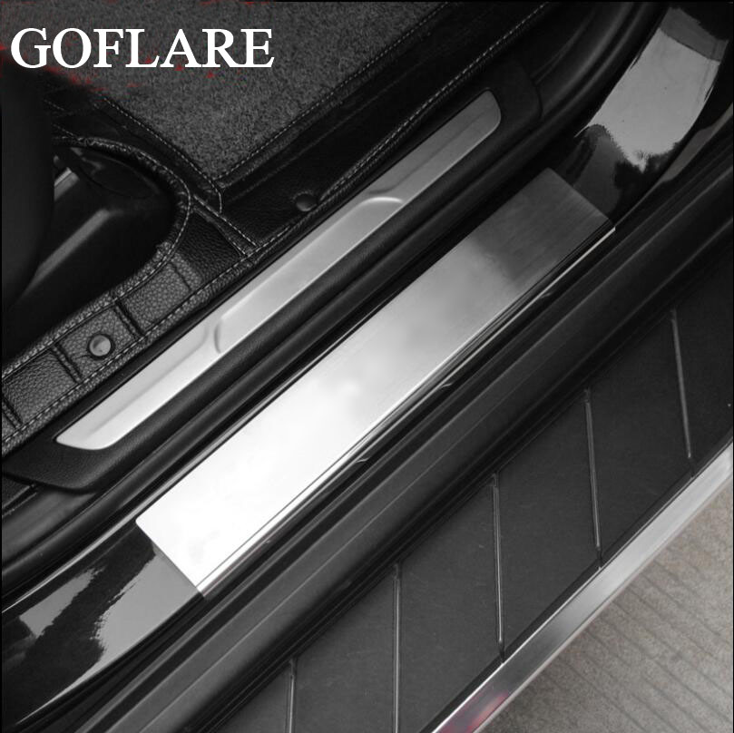 Stainless LED Door Sill Scuff Plate Guards Cover For Kia Optima 2011-2015 4Pcs