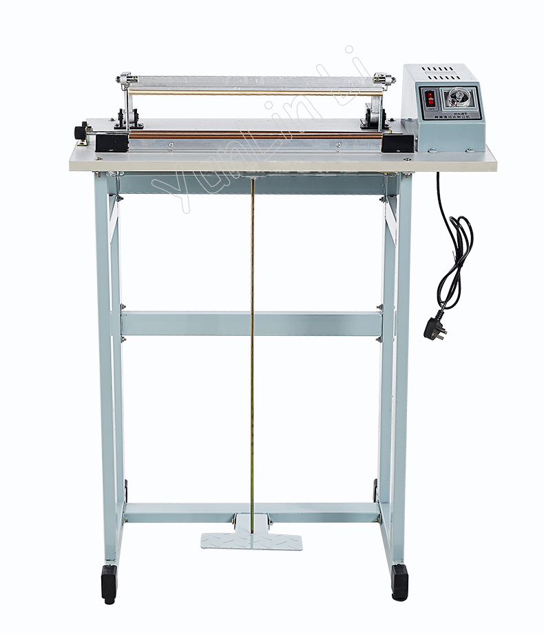 Plastic Film Sealing Machine Foot Pedal Plastic Bag Sealer Heat Sealing Machine Package Use SF-400 frm 980 automatic continuous inflation nitrogen film sealing machine plastic bag package machine expanded food band sealer