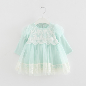 Image 3 - 2020 Spring Newborn Princess Baby Girls Dress Party Birthday Dress Lace Puff Sleeve Baptism Bow Tulle Wedding Dresses 0 2Y