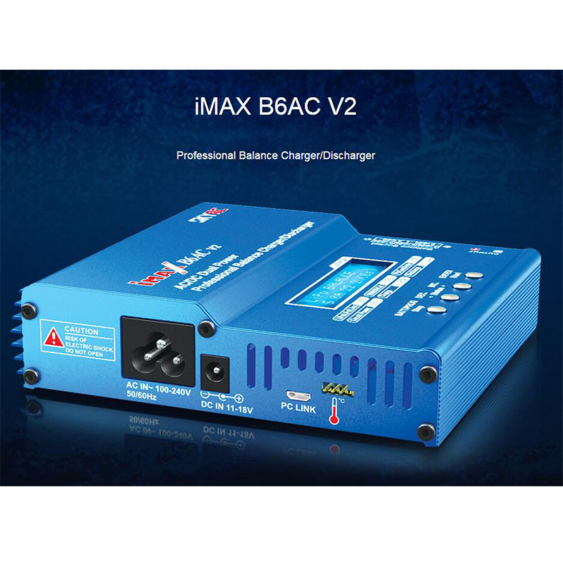 Professional SKYRC iMAX B6AC V2 Charger 50W Lipo Battery Balance Charger Discharger Helicopter Quadcopter Drone Battery
