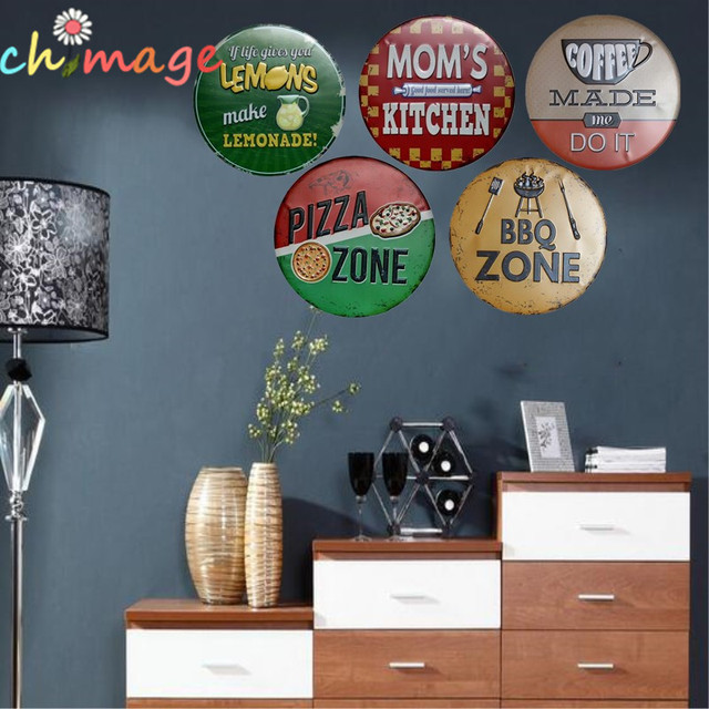 Mom S Kitchen Mural Painting Retro Gift Metal Craft Hotel Cafe Bar House Wall Decor