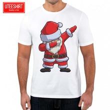 b6eddeaed Men's Dabbing Santa Ugly Sweater Custom T-shirt Unisex Short Sleeve  Harajuku Tshirt Women Casual White T Shirt Christmas Tshirt