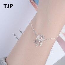 TJP Fashion 925 Sterling Silver Bracelets For Women Wedding Party Trendy Girl Lady Tree Leaf Design Jewelry Hot Bijou