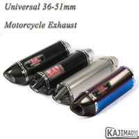 Universal Motorcycle Yoshimura Exhaust Pipe Escape For CBR500R Ninja 400 R3 F800GS Modified Moto Carbon Fiber Muffler DB Killer