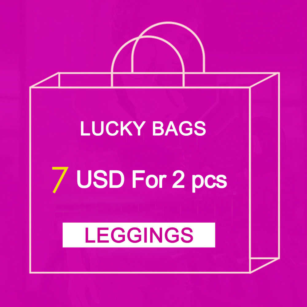 NADANBAO 2PCS Big Surprise With Printed Women Leggings Fitness Working Out Legging Lucky Bags New Year Gift S-XL Send Randomly