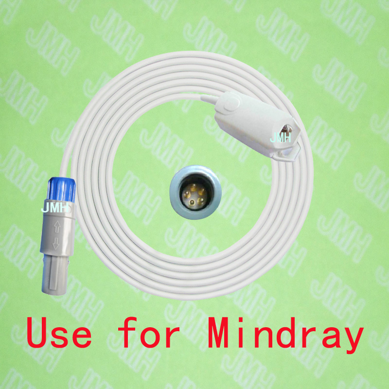 Compatible with Redel 5PIN Mindray,Goldway,Pace tech,Biolight the Adult finger clip spo2 sensor. compatible with ge critikon dinamap puls 8700 8710 8720 oxyshuttele 1 2 child and adult ear clip spo2 sensor