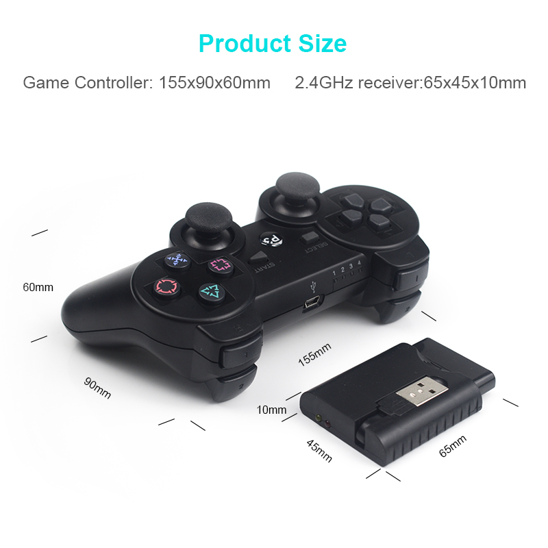 Image 3 - DATA FROG Wireless Game Gamepads for PS3/PS2 Controller Joystick for Playstation2/3 Gamepad for Windows Android Smart TV/TV Box-in Gamepads from Consumer Electronics