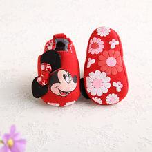 Disney 2018 moda Mickey nowa jesienna zima buty dla dzieci dziewczyny buciki buty dla noworodka 0-18M buty buciki tanie tanio Cotton Fabric Wiązanej krzyżowe Baby girl Wszystkie pory roku Slip-on Pasuje mniejszy niż zwykle proszę sprawdzić ten sklep jest dobór informacji