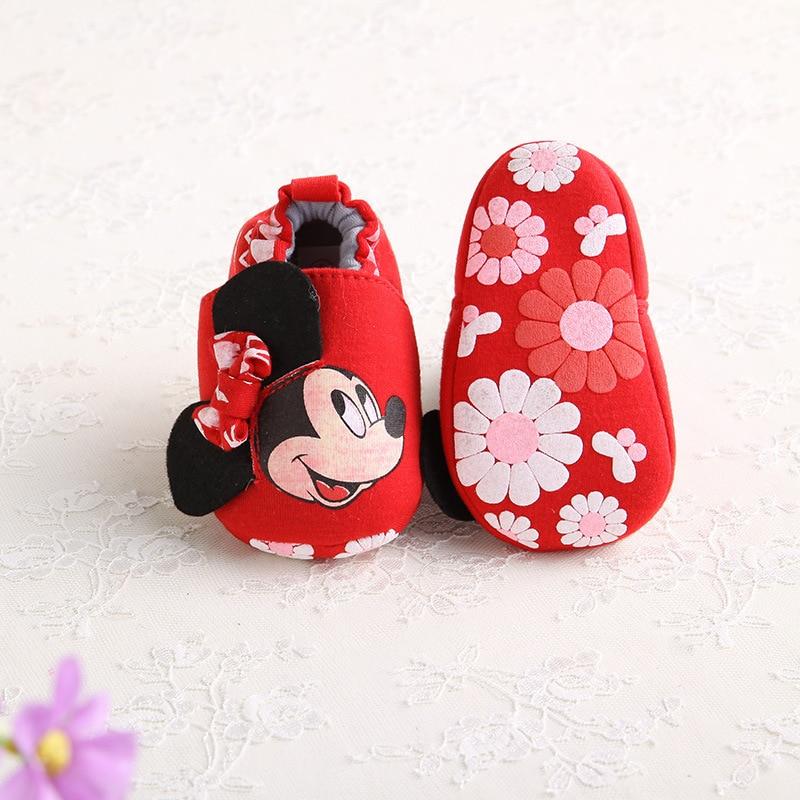 Disney 2018 mode Mickey nouveau automne hiver bébé chaussures filles premiers marcheurs nouveau-né chaussures 0-18M chaussures premiers marcheurs
