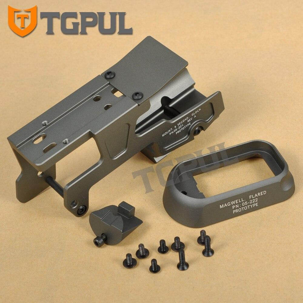 TGPUL ALG defensa 6 segundo montaje linterna del montaje del alcance RMR para pistola Gen3 Glock 17 18C 22 24 31 34 35 pistolas con Magwell