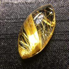 Certificate Natural Gold Rutilated Quartz Pendant Titanium Rhombus Gemstone AAAAA Gift 24x12x8mm Crystal Stone