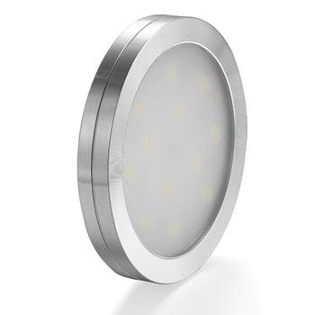 Ultra-cienka szafka led oświetlenie w szafie lampa na barek szafka schody szafa światła samochodowe led lampa sufitowa lampka nocna 12V tanie i dobre opinie Noc światła Atmosfera ROUND other Aluminium Przełącznik Wakacyjny Dfiolk ROHS Żarówki led 12 v 0-5 w