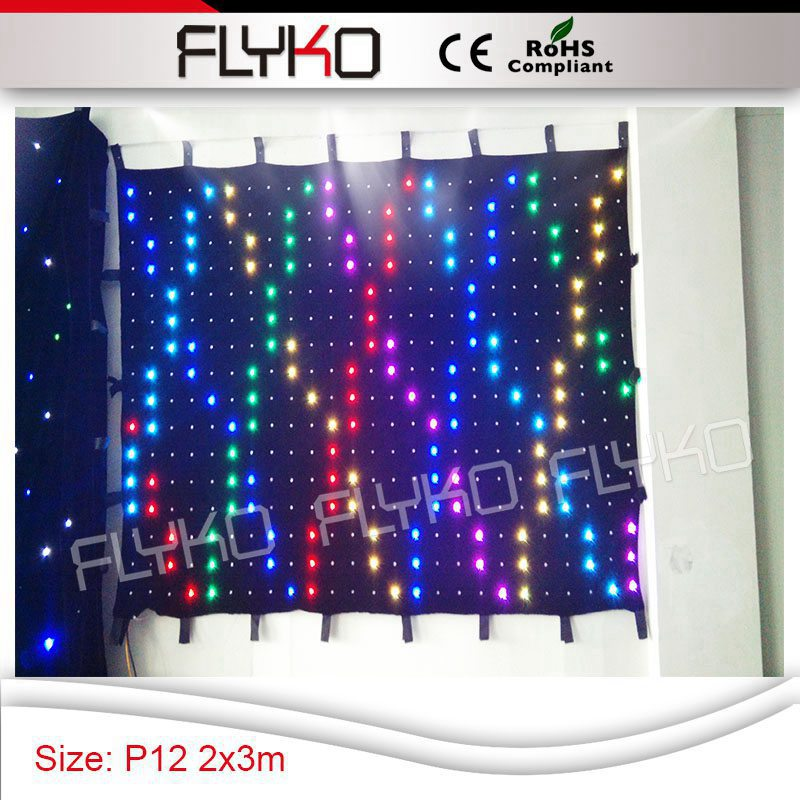 P12 Hot Show Portable LED Video Display Screen Led Curtain Stage Curtain  Display 7ft By 10ft