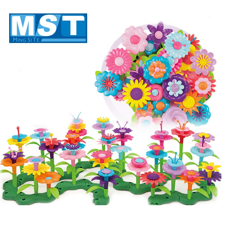 Puzzle Variety Patchwork Garden Set Intelligence Development DIY Assembly Gift Arts And Crafts For Kids Girls Children Toys
