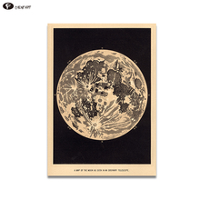 CHENFART  Canvas Prints Vintage Moon Art Print Poster of the Home Decor Decorative Pictures no Framed