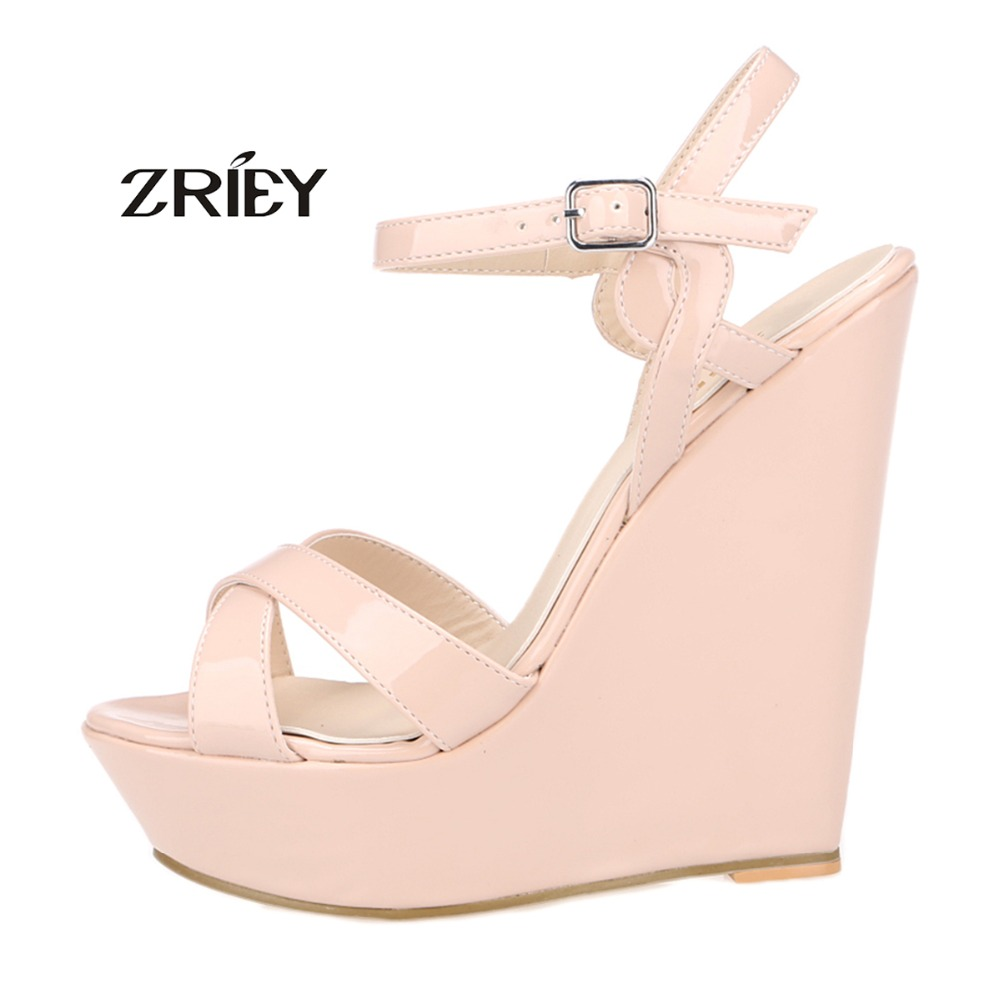 2016 women platform high heel sandals fashion woman peep toe wedges heels ladies party wedding shoes 2016 genuine leather women sandals fashion peep toe shoes woman popular mixed color wedges high heels glitter platform shoes