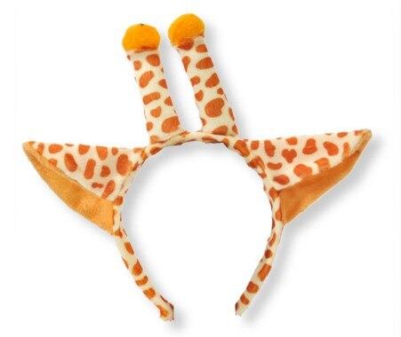 Дети взрослые Косплей Животное ухо оголовье пчела Шрек Медведь Корова Зебра мышь Обезьяна и лягушка Тигр Леопард лягушка день рождения - Цвет: giraffe