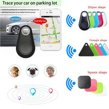 Moda Mini Bluetooth 4.0 Localizador GPS Tracker Alarme Tag Carteira Chave Pet Cão Rastreador Anti-lost Tamanho de Bolso Inteligente rastreador(China)