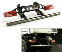 1Set 1:14 Tamiya Tractor Rear Bumper Simulation Anti collision Bar with LED Taillight Cup for Scania MAN RC Truck Decorative