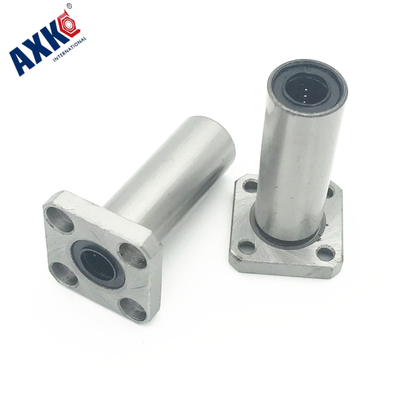4pcs Lmk12luu 12mm Linear motion Bearing square Flange Bushing router shaft CNC