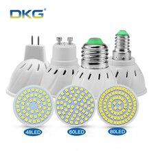 Светодиодная лампа GU10 E27 светодиодная лампа E14 110 V 220 V 2835 SMD 48 60 80 светодиодов Точечный светильник Bombillas для люстры освещения