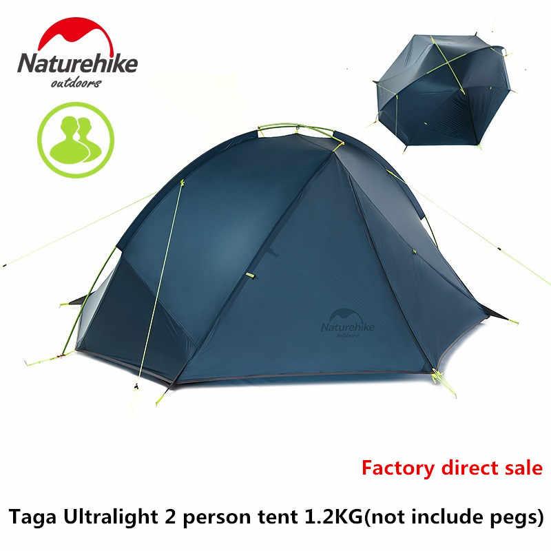 Naturerandonnée usine magasin tapis gratuit ultra-léger Tagar tente 1-2 personne camping en plein air randonnée 3 saison Double couche coupe-vent tente