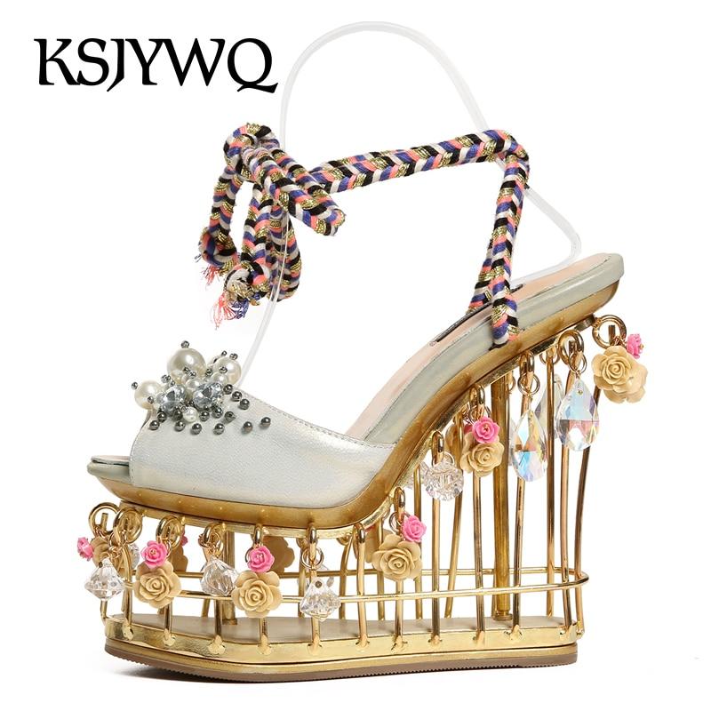 Bridal Shoes Expensive: KSJYWQ Luxurious Expensive Platform Sandals For Women 15