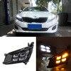 Brand New Updated LED Daytime Running Lights DRL With Black Fog Light Cover For Kia K5