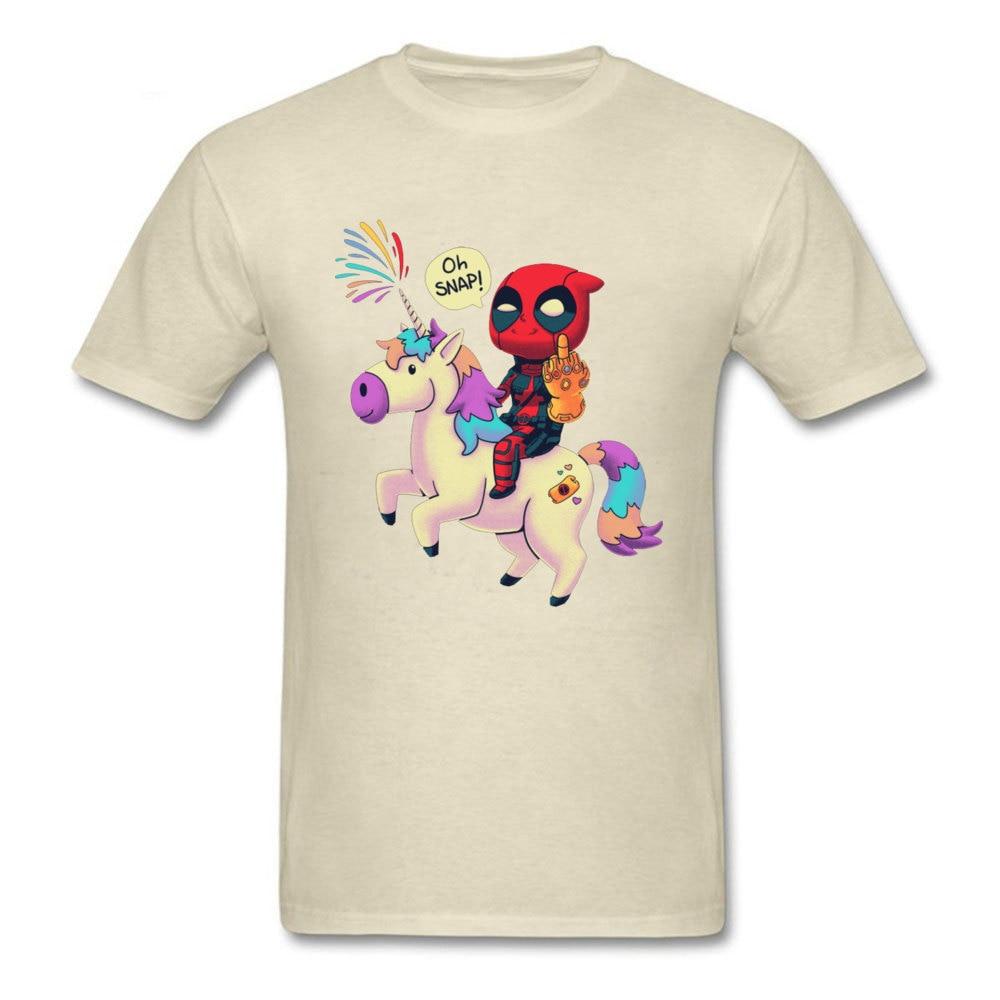 Cool Avengers-Endgame-Deadpool-Thanos-Unicorn-Rainbow- Man T-Shirt Oversized Labor Day Round Collar Cotton Tops T Shirt Tops Shirts Avengers-Endgame-Deadpool-Thanos-Unicorn-Rainbow- beige