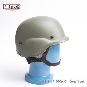 Image 5 - Militech OD Oliver Drab PASGT NIJ IIIA 3A 풀 컷 탄도 방탄 Aramid 방탄 헬멧 (실험실 테스트 비디오 포함)